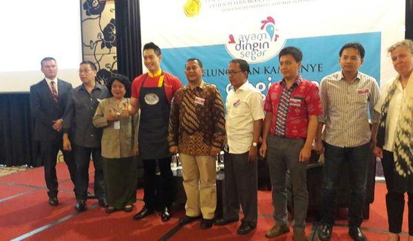 Suasana peluncuran Kampanye Aam Dingin Segar di Jakarta, Kamis (6/10). (Istimewa)