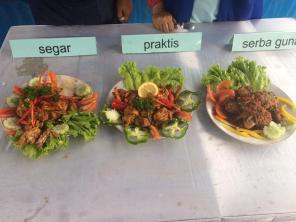 Hasil karya para peserta lomba masak kali ini. Yummm...